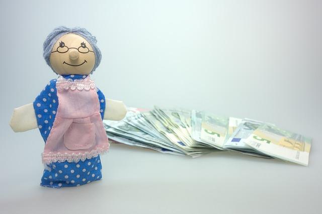 peníze babičky