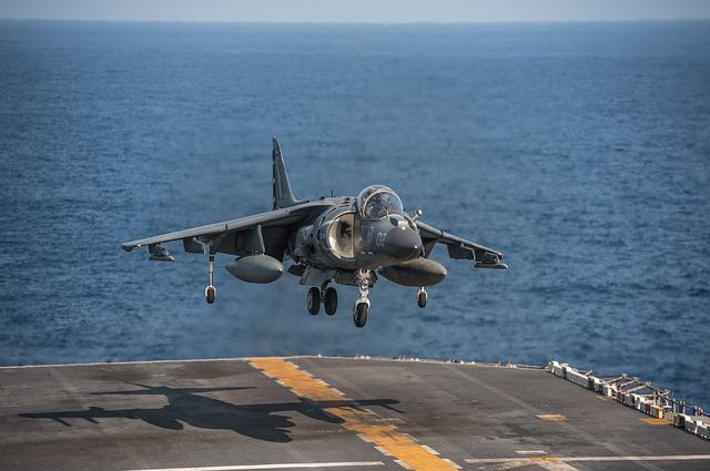 Přistávající Harrier