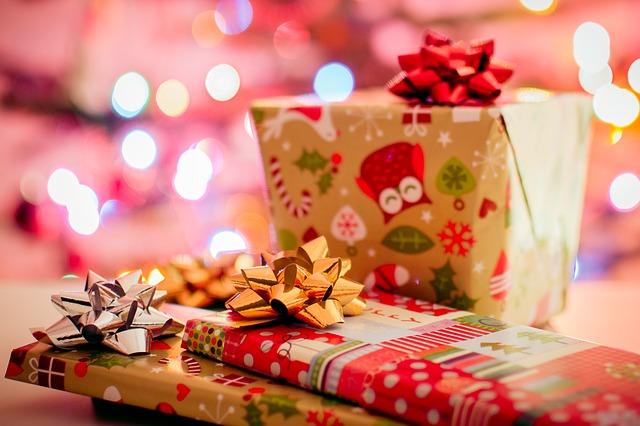 Zabalené vánoční dárky