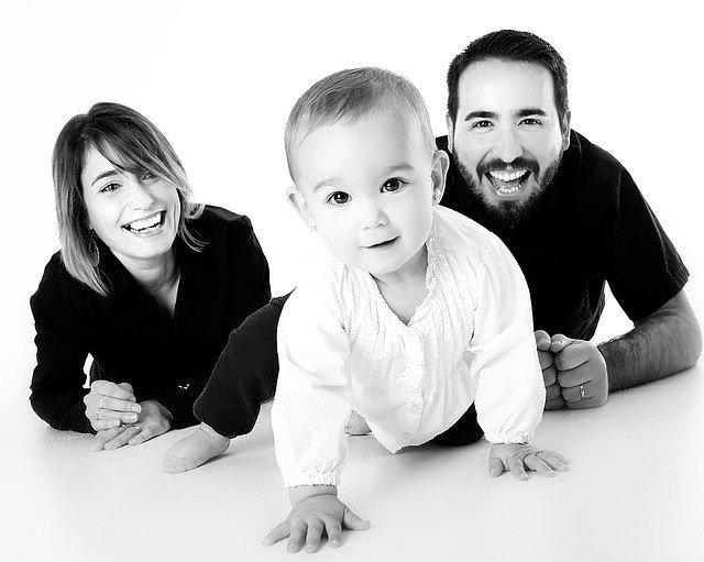 rodina s malým dítětem